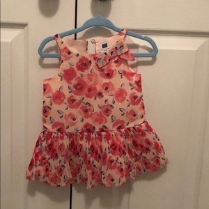Janie and jack pink floral dress